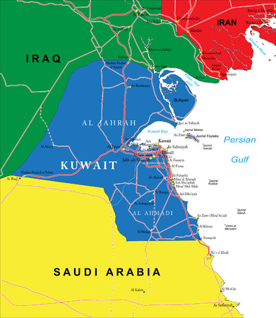 Kuwait map Vector