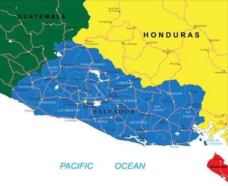 mapa de el salvador: Mapa de El Salvador