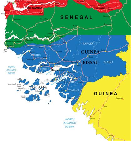 atlantic city: Guinea-Bissau map
