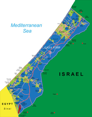 sinai: Gaza Strip map