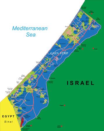 gaza: Gaza Strip map