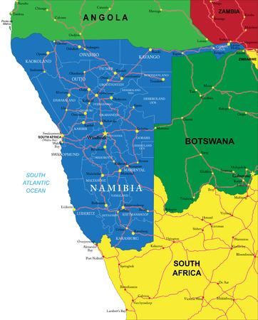 namibia: Namibia map Illustration