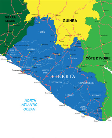 liberia: Liberia map