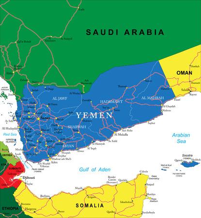 yemen: Yemen map Illustration