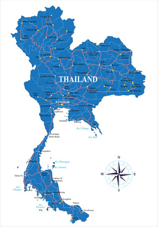 thailand bangkok: Thailand map