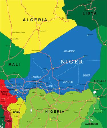 niger: Niger map