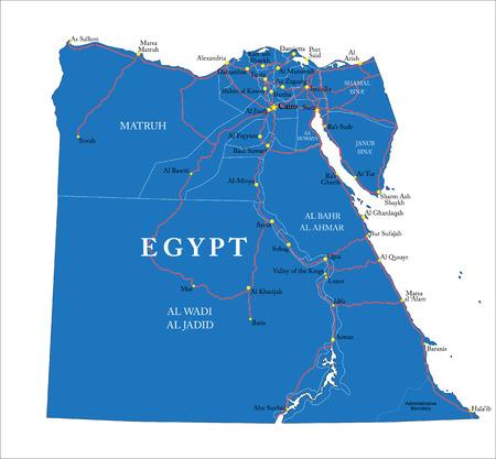 alexandria egypt: Egypt map
