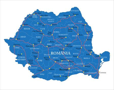 Romania map
