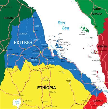 eritrea: Eritrea map