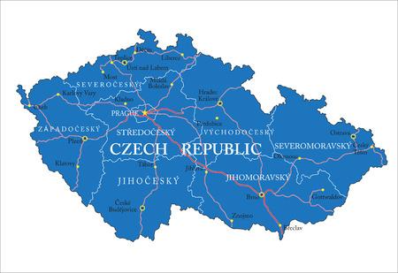Czech Republic map Illustration