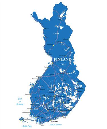 gulf: Finland map