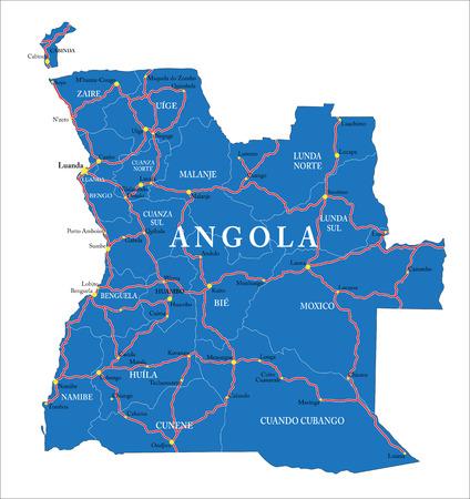 angola: Angola map Illustration