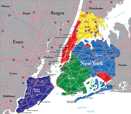 New York City map Illustration