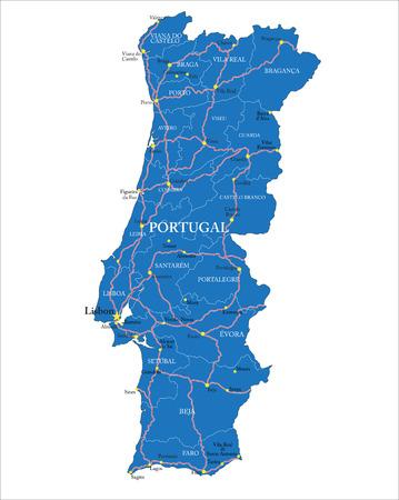 iberian: Portugal map