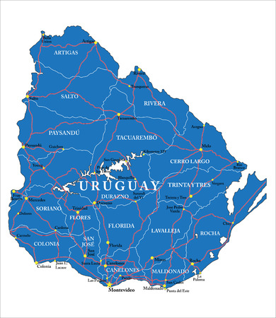 uruguay: Uruguay map Illustration