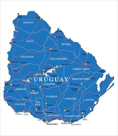 Uruguay map Ilustração
