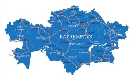 kazakhstan: Kazakhstan map Illustration
