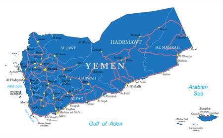 Yemen map Ilustrace