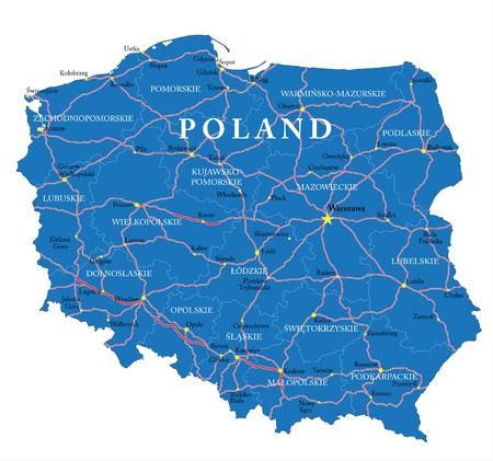 Poland map Ilustracja