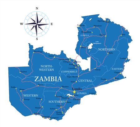 tanganyika: Zambia map