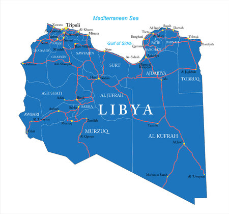 libya: Libya map