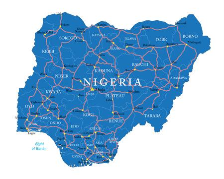 Mapa Nigerii