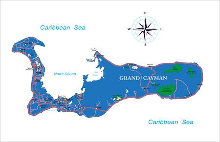 cayman: Grand Cayman map