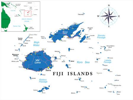 fiji: Fiji map