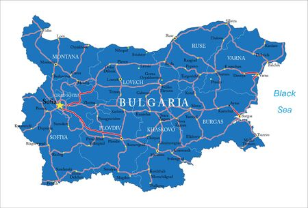ruse: Bulgaria map