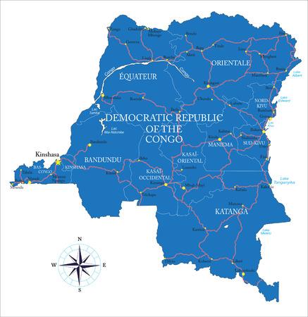 tanganyika: Democratic Republic of the Congo former Zaire map