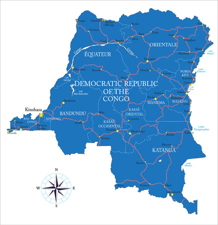 Democratic Republic of the Congo former Zaire map