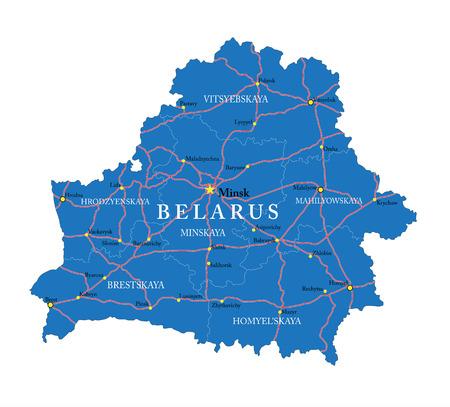 belarus: Belarus map Illustration