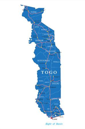 togo: Togo map