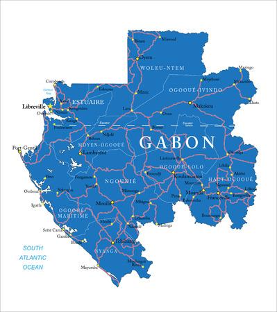 atlantic city: Gabon map