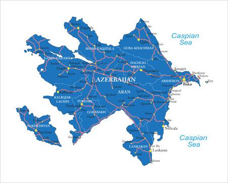 azerbaijan: Azerbaijan map