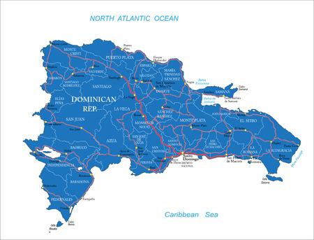 Dominican Republic map Ilustração