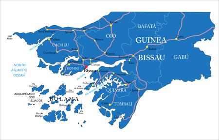 atlantic city: Guinea Bissau map