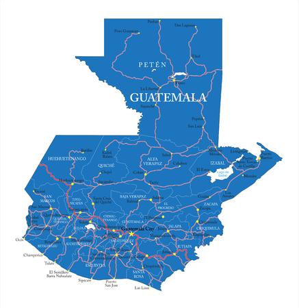 guatemala: Guatemala map