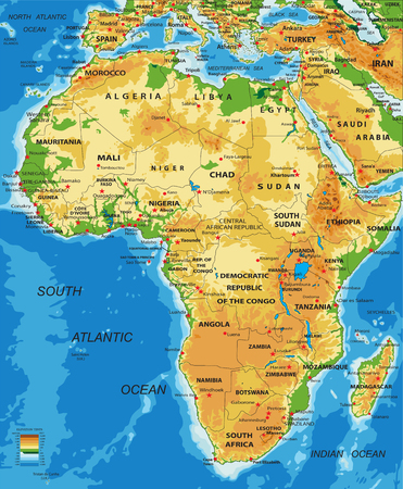 Africaphysical Map Royalty Free Cliparts Vectors And Stock