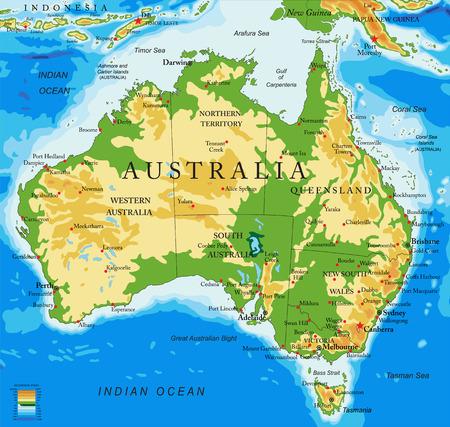 carte Australie-physique