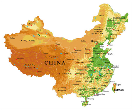 China relief map