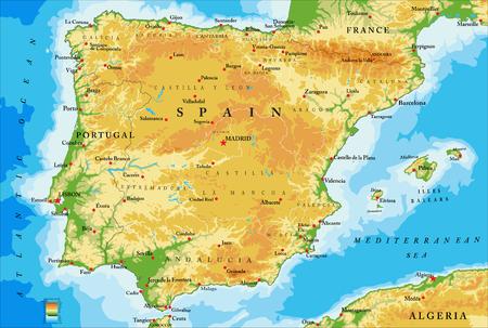 Spai- fysieke kaart