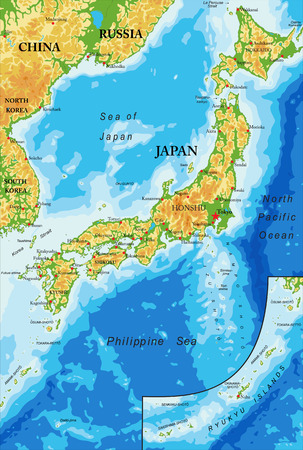 Japan relief map