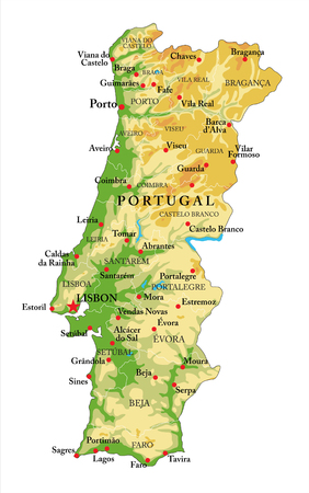 Portugal physical map