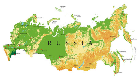 Russland Reliefkarte