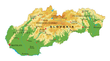 Slovakia relief map  イラスト・ベクター素材