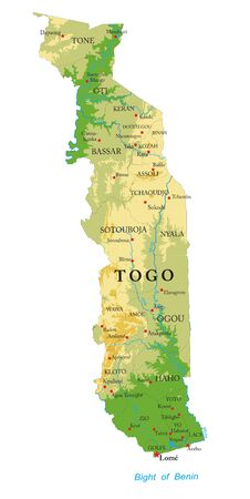 Togo physical map