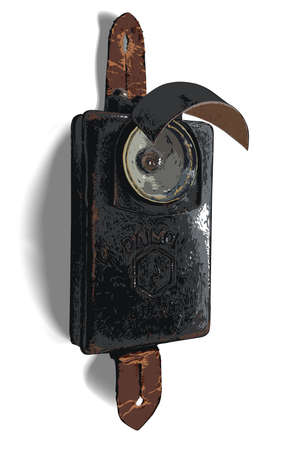 Old flashlight, the times of the Second World War Çizim