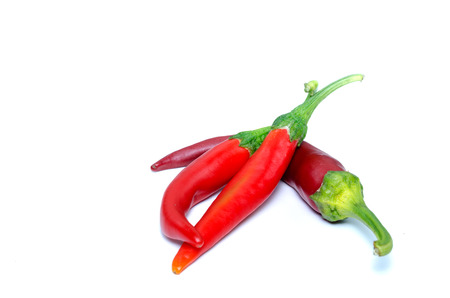 peperoni: Red chilli peperoni isolated on white with shadows