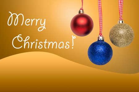 greeting christmas: Christmas tree balls - greeting card